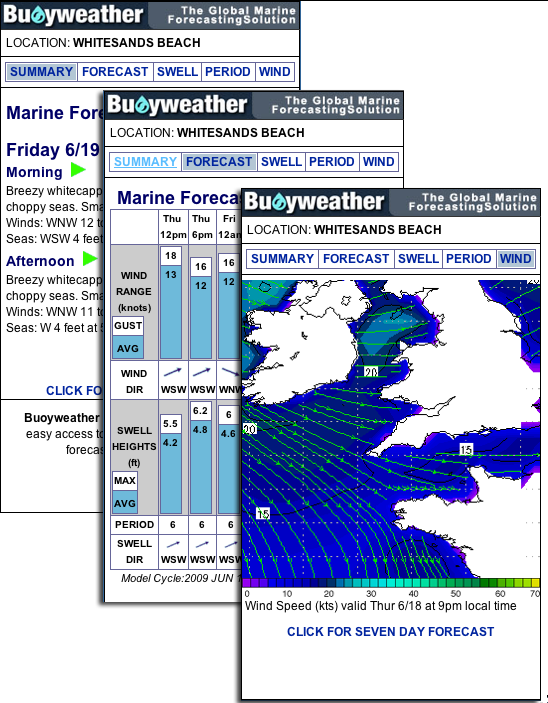 Free Marine Weather Widgets | BUOYWEATHER COM